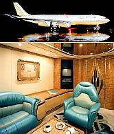 The Sultan of Bruneis private jet