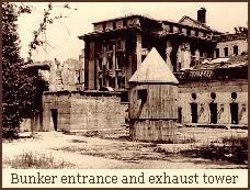 Führerbunker entrance with exhaust shaft tower