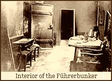 Führerbunker interior, after Soviet despoiling