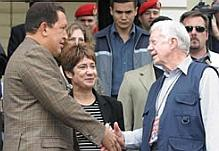 Hugo Chvez and Jimmy Carter