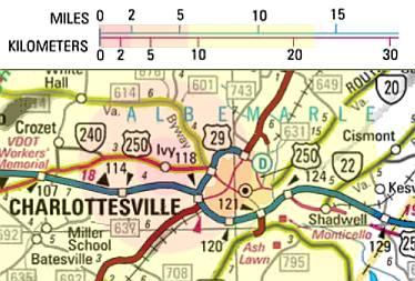 Charlottesville area