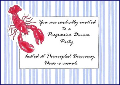 Progressive Dinner Party hosted at Principled Discovery