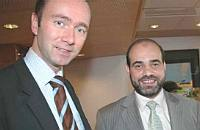 Trond Giske and Mohammed Hamdan