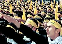 Hizbullah giving the Nazi salute