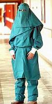 Hospital burqa