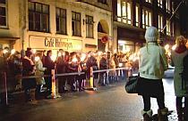 Kristallnacht ceremony in Copenhagen