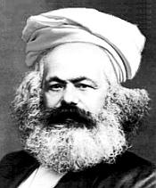 Karl Marx in a turban