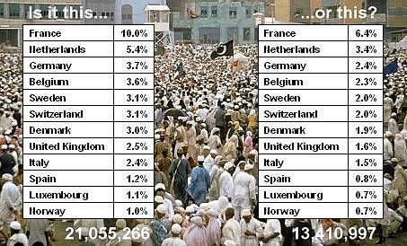 Muslim population statistics