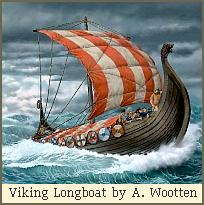 Viking Longboat by Antony Wootten