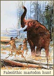 Paleolithic mastodon hunt