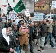 Demonstration in Odense, February, 2006