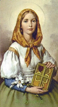 St. Dymphna with Lilies, no sword