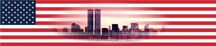 Flag with NYC skyline