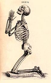 Skeleton praying