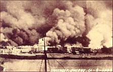 The burning of Smyrna in 1922