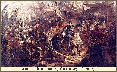 Jan III Sobieski sending the message of victory