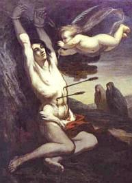 St. Sebastian by Honoré Daumier