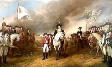 Cornwallis surrenders at Yorktown