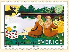 Swedish postage stamp