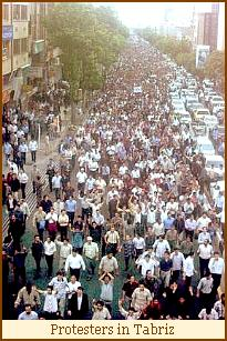 Protesters in Tabriz