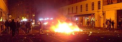 Rioters after Ungdomshuset riots