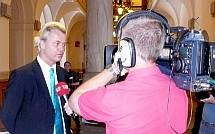 Geert Wilders on camera