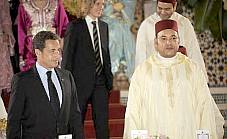 Zapatero and Mojamé VI, present the new map of Morocco. A meaningful fake.