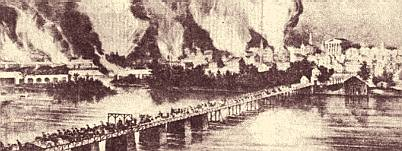 The burning of Richmond