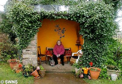 Bus shelter in Cornwall