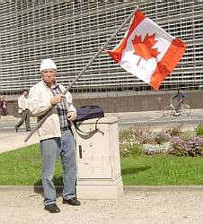 Canadians at the Brussels demo