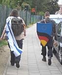 Brussels — Israeli flag