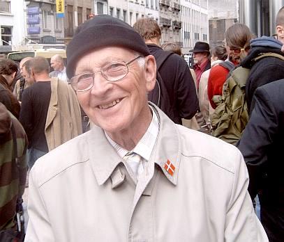 A Danish protester
