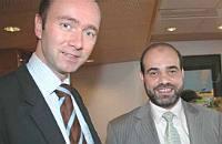 Trond Giske and Muhammad Hamdan