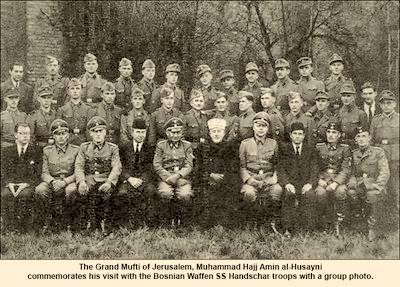 Mohammad Amin al-Husayni with the Bosnian Waffen SS
