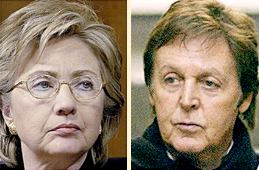 Hillary and Paul — separated at birth?