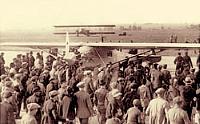 Charles Lindbergh lands at Bourget Airport, May 21st, 1927