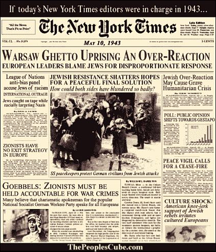 New York Times Front Page, 1943