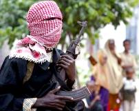 Somali militia checkpoint in Mogadishu