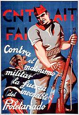 Spanish Civil War — Contra el matonismo militar la fuerza invencible del proletariado