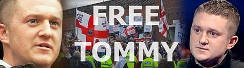 Free Tommy Robinson banner
