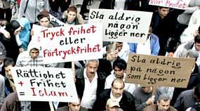 Demonstration in Uppsala