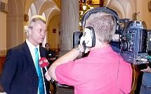 Geert Wilders on camera